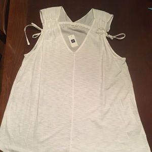 GAP White Sleeveless Top- Tall/ Tunic length